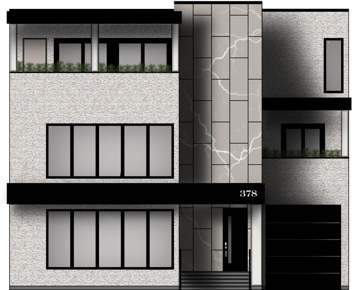 378 Fairlawn front elevation drawing